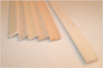 "BALSA STRIP 12.5mm X 25mm X 915mm    (1/2"" x 1"" x 36""), 1 piece"