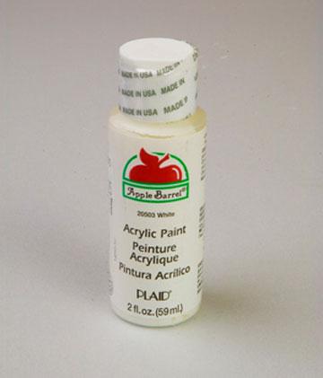 apple barrel matte white acrylic paint 2 oz bottle. Black Bedroom Furniture Sets. Home Design Ideas