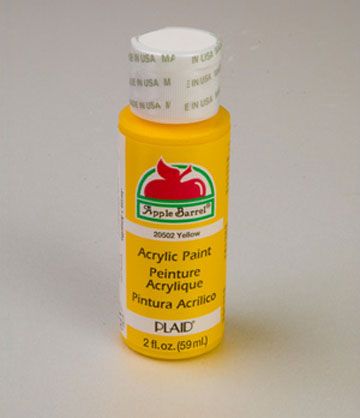 apple barrel matte yellow acrylic paint 2 oz bottle