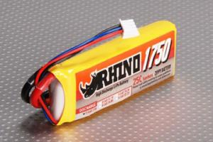 Lipoly Battery Pack - Rhino 1750mAh 2S1P 25C