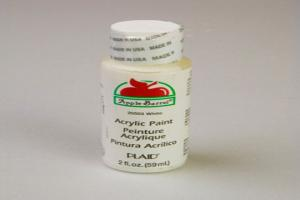 Apple Barrel Matte White Acrylic Paint (2 oz bottle)