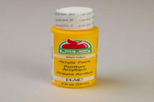 Apple Barrel Matte Yellow Acrylic Paint (2 oz bottle)