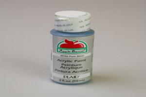 Apple Barrel Matte Pure Silver Acrylic Paint (2 oz bottle)