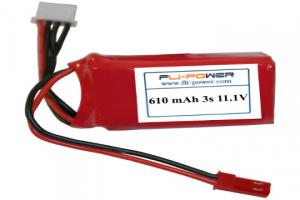 Lipoly Battery Pack - Fli-Power 610mAh 20C 11.1V (3s)