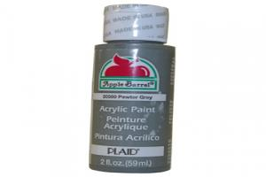 Apple Barrel Matte Pewter Grey Acrylic Paint 2 Oz Bottle