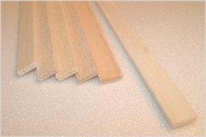 "BALSA STRIP 3.0mm X 9.5mm X 915mm    (1/8"" x 3/8"" x 36""), 1 piece"