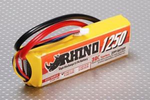 Lipoly Battery Pack - Rhino 1250mAh 3S 11.1v 30C