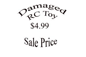 Damaged RC Toy - Sale Price