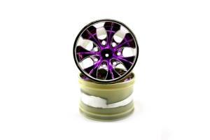 2.8 Chrome 7 spoke blue anodized wheels 2 pcs