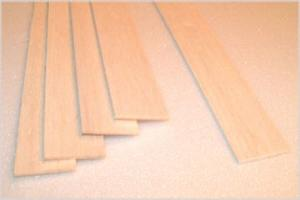 "BALSA SHEET 1.0mm X 75mm X 915mm (0.040"" x 3"" x  36""), 1 piece"