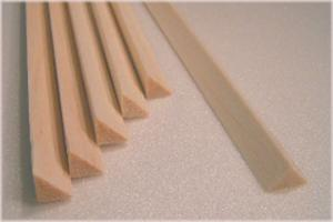 "BALSA TRIANGLE 6.5mm X 6.5mm X 915mm    (1/4""x 1/4"" x 36""), 1 piece"