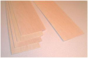 "BALSA SHEET 1.5mm X 100mm X 1220mm (1/16"" x 4"" x 48""), 1 piece"