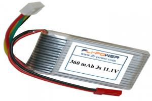 Lipoly Battery Pack - Fli-Power 360mAh 20C 11.1V (3s)