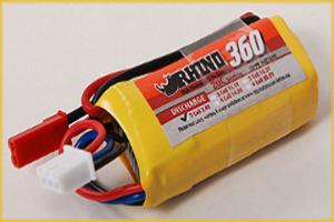 Lipoly Battery Pack - Rhino 360mAh 2S 7.4v 20C