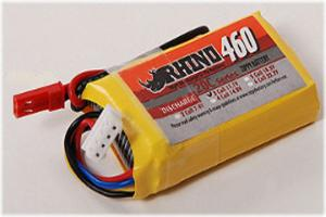 Lipoly Battery Pack - Rhino 460mAh 3S 11.1v 20C