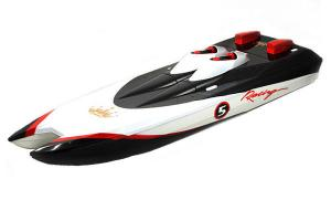 High Speed Racing Boat Black
