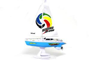 RC Sailboat, Blue 758