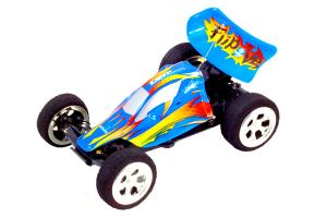 Mini High-Speed USB Charging 5-CH Kart Car Racer  with Remote Controller  Blue Orange