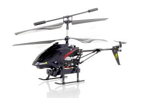 WL Toys S215 Mini Metal Camera equipped RC Helicopter, Black Black