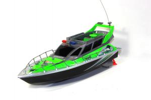 Police Patrol Cruiser Electric RC Boat 4CH RTR Green
