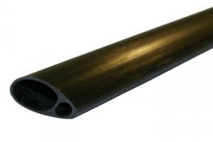 Elliptical Carbon Tube 19mm x 12.5mm x 1000mm