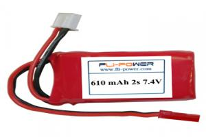Lipoly Battery Pack - Fli-Power 610mAh 20C 7.4V (2s)