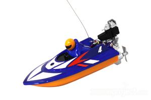 Mini Micro RC Speed Boat Blue