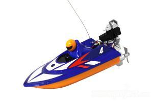 Mini Micro RC Speed Boat Blue
