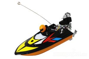 Mini Micro RC Speed Boat Black