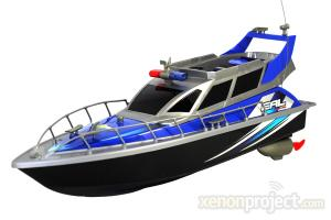 Police Patrol Cruiser Electric RC Boat 4CH RTR Blue