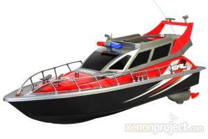Police Patrol Cruiser Electric RC Boat 4CH RTR Red