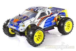 1:10 Himoto El Dorada Nitro RC Car Silver/Blue