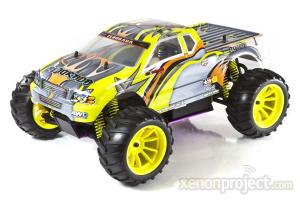 1:10 Himoto El Dorada Nitro RC Car Silver/Yellow