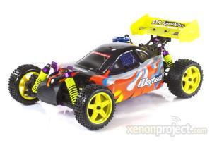 1:10 Himoto Warhead Nitro RC Car Orange/Black/Yellow