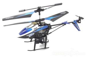 V319 3Ch Water Shooting Gyro RC Helicopter, Blue