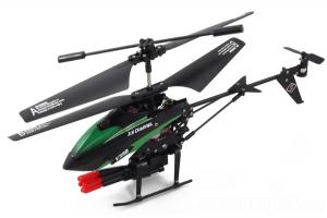 V398 3Ch Missle Shooting Gyro RC Helicopter, Green