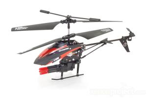 V398 3Ch Missle Shooting Gyro RC Helicopter, Red