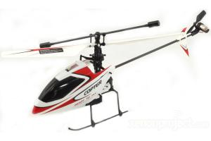 V911 4Ch Mini Gyro RC Helicopter, Red