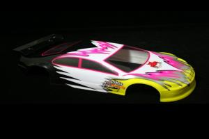 1/10 200mm Onroad Car Body Pink and Yellow