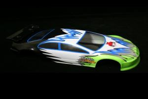 Redcat Racing 1/10 200mm Onroad Car Body Green and White