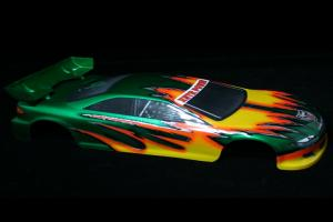 Redcat Racing 1/10 200mm Onroad Car Body Green and Yellow