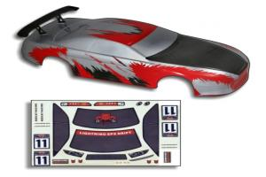 Redcat Racing 12304 1/10 200mm Onroad Body Red and Carbon Fiber