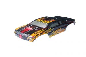 Redcat Racing Truck Body- Black Red for Sumo RC