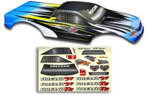 Redcat Racing 1/10 Truck Body Blue and Black Flame