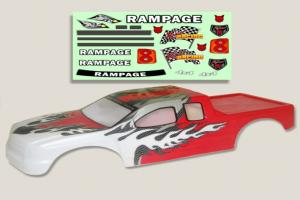 Redcat Racing 1/5 Truck Body Red and White