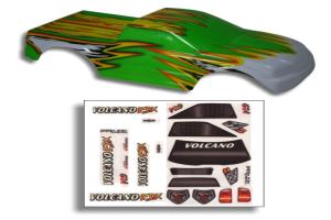 Redcat Racing 1/10 Truck Body Green and Yellow
