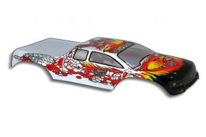 Redcat Racing 1/10 Truck Body Silver and Red
