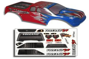 Redcat Racing 1/10 Truck Body Red, White, and Blue