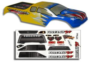 Redcat Racing 1/10 Truck Body Blue and Yellow