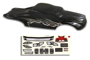Redcat Racing 1/10 Semi Truck Body Black and Silver